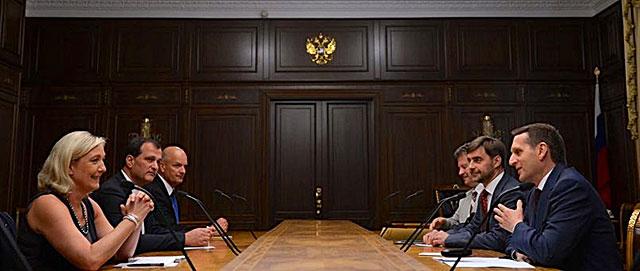 Мари Ле Пен принимают на самом высоком уровне в Москве.