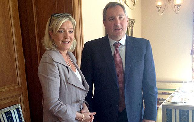 Мари ле Пен и Рогозин